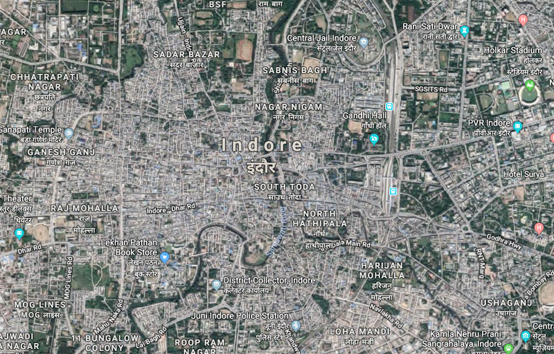 Google Map indore