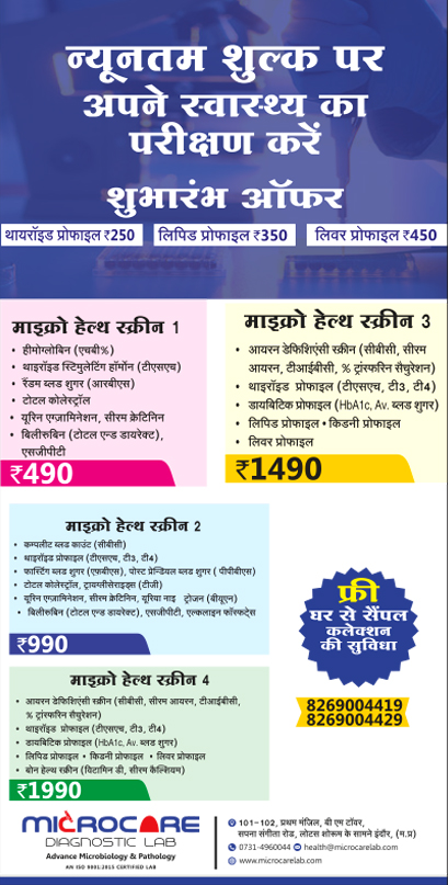 Indore Talk Micro Care Lab Ad